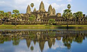 Angkor Wat Temple before sunset, Siem Reap, Cambodia.